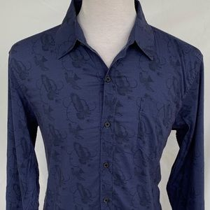 billy Teid MSL-ALA Button Up Shirt.  Size Large
